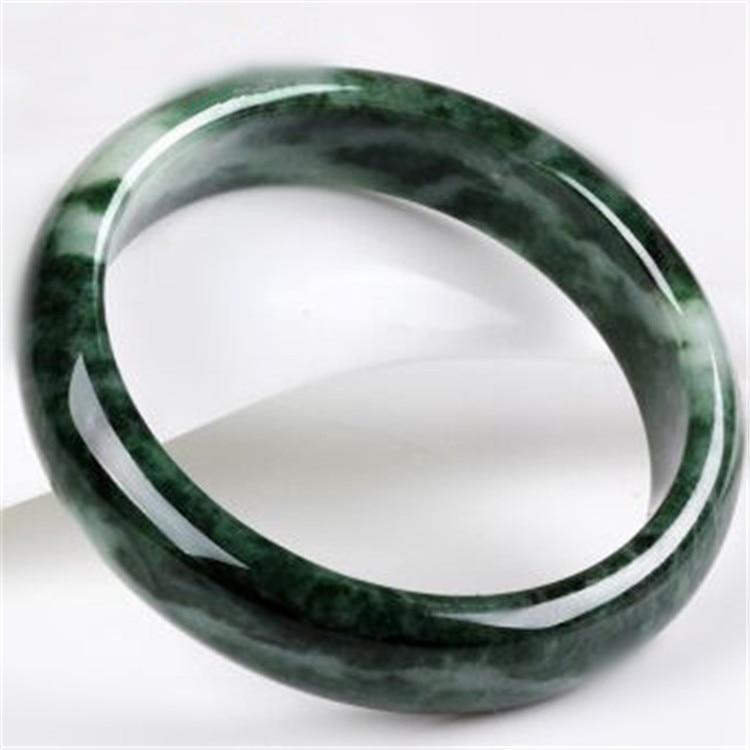 Natural Dark Green Guizhou Stone Bracelet Authentic Round Bangles Bracelet Beautiful Women's Jades Jewelry