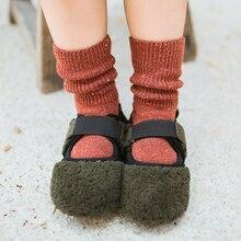 Neue Herbst Winter Baby Junge Mädchen Lange Socken Mode Kinder Kleinkind mädchen wolle Kurze Socken einfarbig z124