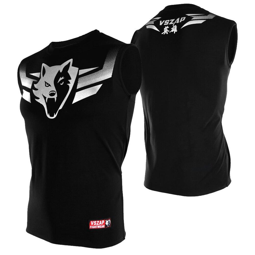 Camiseta VSZAP, ropa para hombre, chaleco Mma Muay Thai, camisetas sin mangas, reacerback