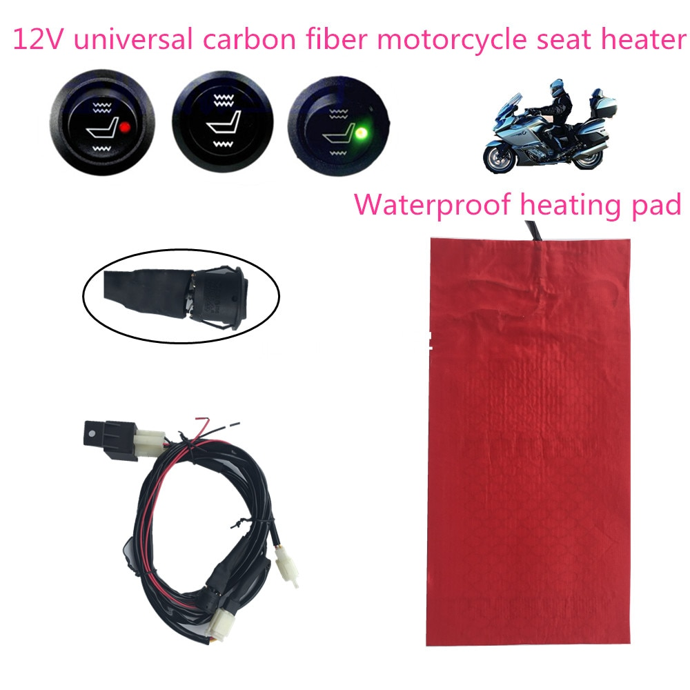 12V Universal waterproof carbon fiber seat heater for all type motorcycle ATV UTV E-BIKE, seat cover heating seat