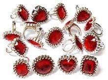 Bagues en plastique rouge strass   500 pièces, cadeau de princesse pour fête danniversaire pour filles et enfants, Pinata en gros, gadget regalo pour cadeaux