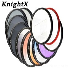 Цветной фильтр для объектива KnightX ND FLD UV MC Star 52 мм 58 67 55 77 мм для Nikon Canon EOS 7D 5D 6D 50D 60D 600D d5200 d3300 d3200 T5i