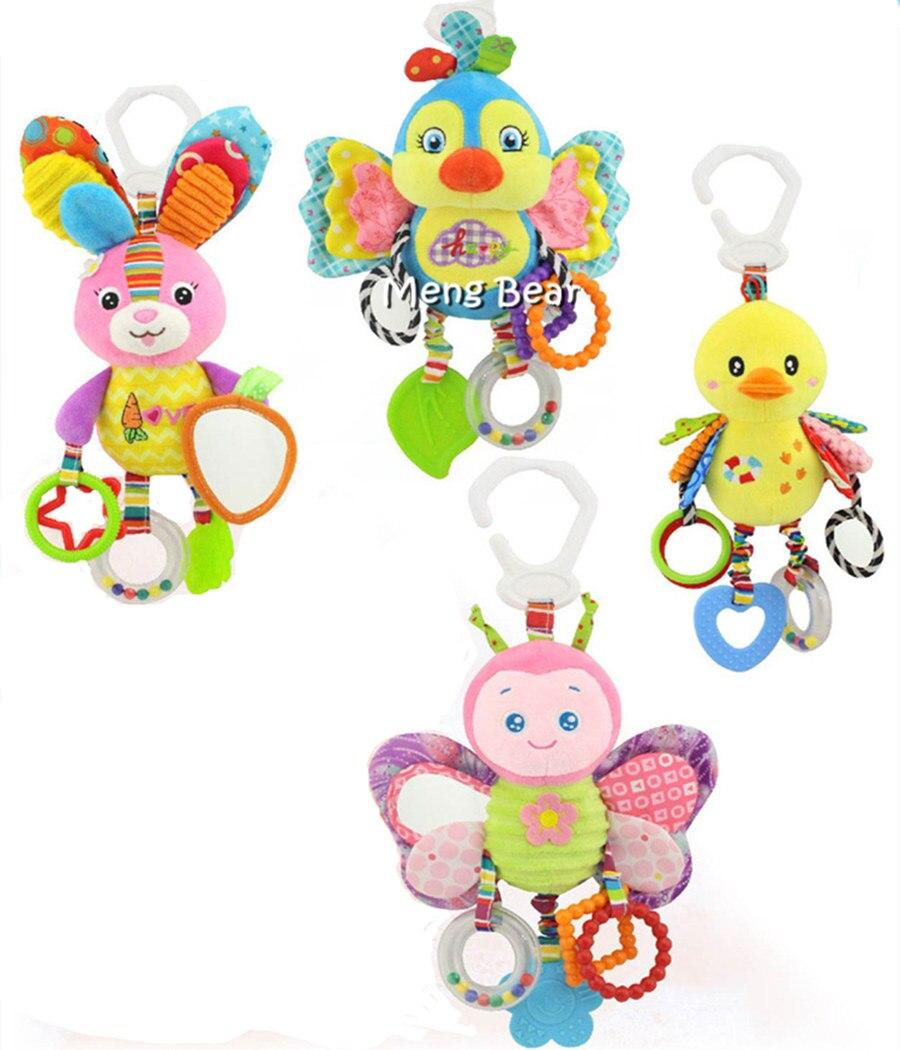 Детские погремушки-мобильные телефоны, игрушки для новорожденных от 0 до 12 месяцев, плюшевые колокольчики с животными, Музыкальная развиваю...