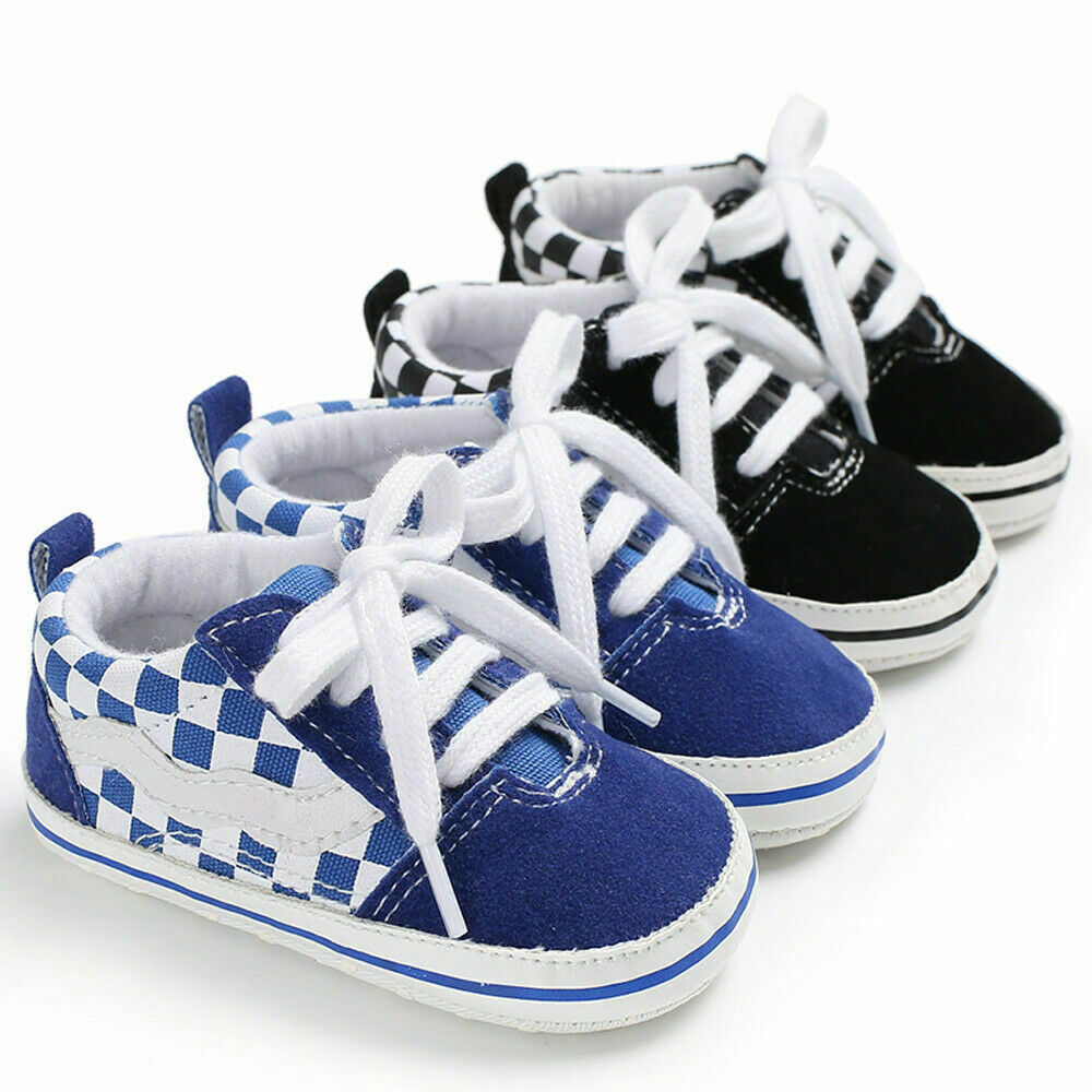 New Style Baby Shoes Newborn Baby Girls Boys Soft Sole Crib Shoes Sneakers Anti-Slip Canvas Shoe