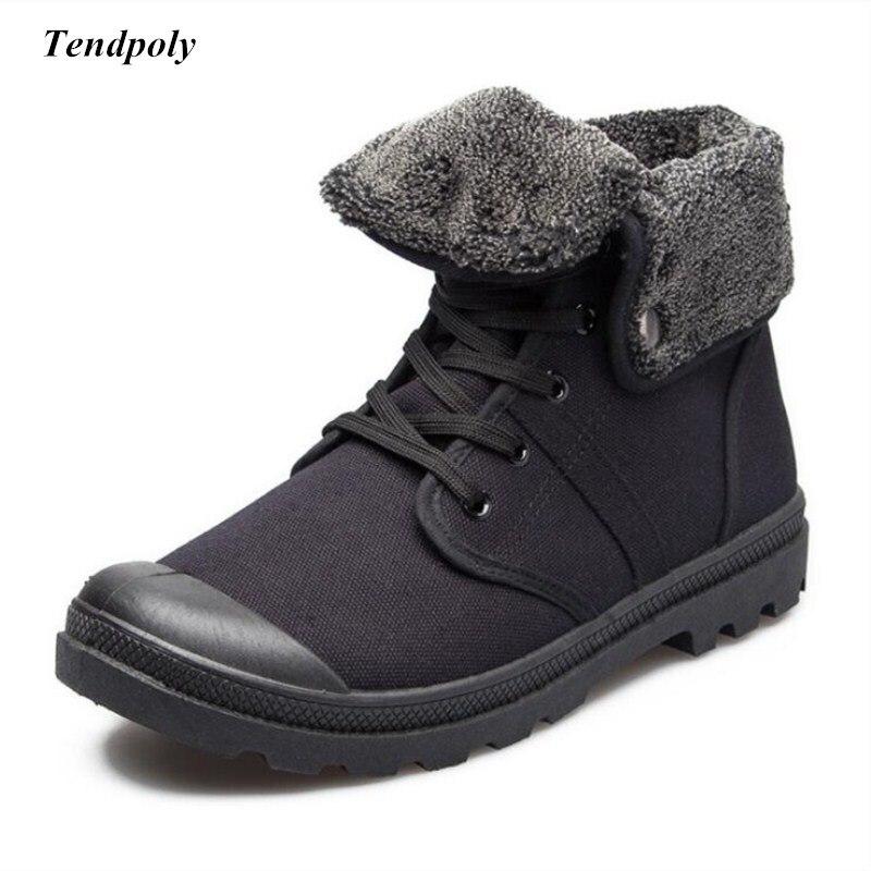 Inverno novo não-deslizamento respirável quente-resistente ao desgaste das sapatas de lona dos homens de moda ao ar livre sapatos Paladin selvagem curto botas dos homens do laço