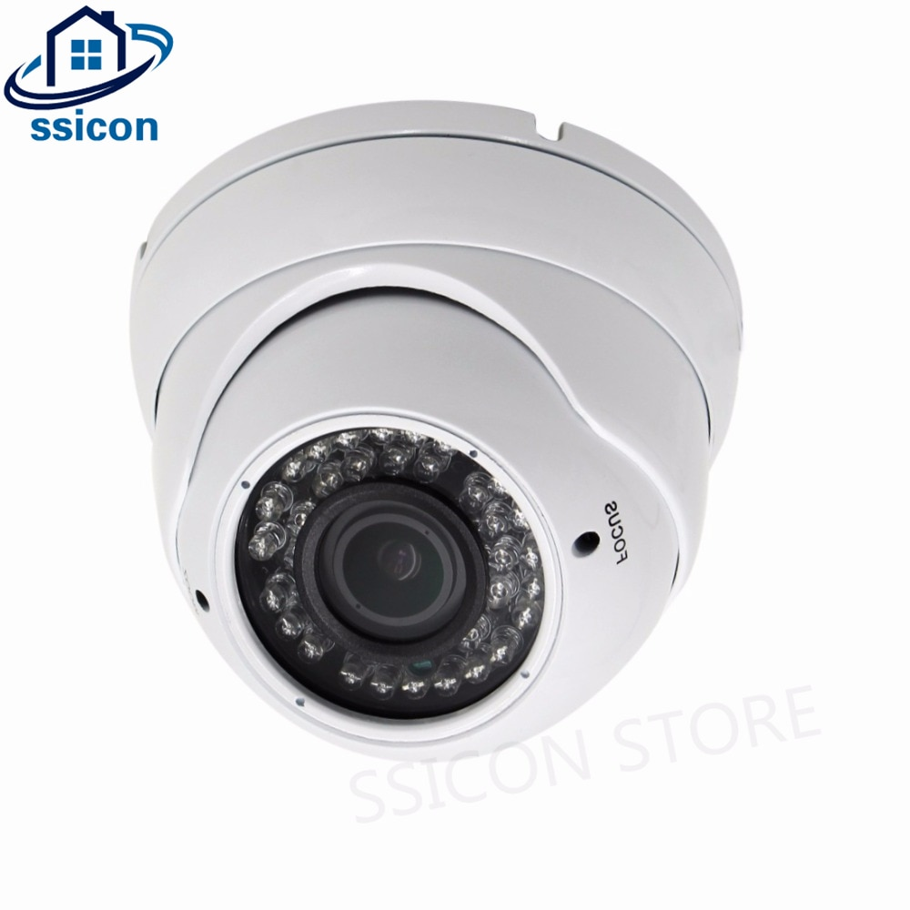 H.265 Indoor IP Camera Dome 2.8-12mm Lens 4X Manual Zoom IR Distance 30M 1080P Security Camera Full HD 2MP Onvif ssicon 2 0mp dome ip camera 2 8 12mm varifocal lens manual zoom onvif 1080p home security camera poe night vision