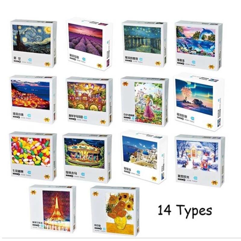 100 piezas de papel más grueso rompecabezas para niños viejo maestro paisaje rompecabezas juguetes juegos interactivos para padres e hijos niños