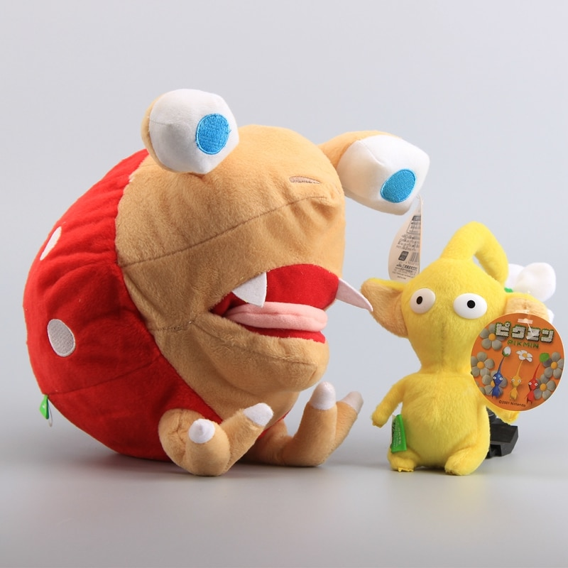 2 Styles Pikmin Bulborb Chappy 25 cm & Yellow Flower 14 cm Cute Plush Toys Soft Stuffed Toys Dolls K