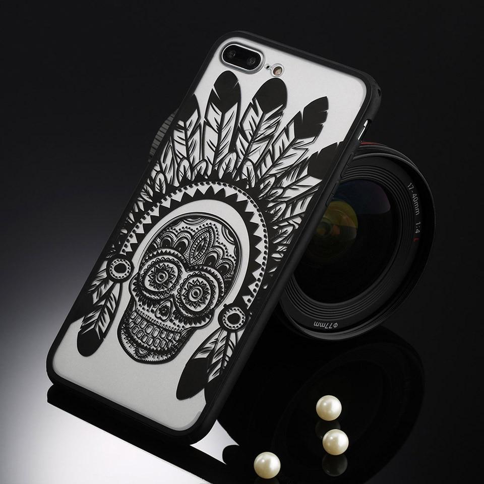 Sexy retro floral phone case dla apple iphone 7 6 6 s 5 5S SE Plus Koronki Kwiat Dysk PC + TPU Przypadki Back Cover Capa Dla iPhone7Plus 13