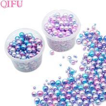 250 pièces en plastique dégradé perles bricolage fête de mariage fournitures manucure perles sirène fête collier bijoux boucle doreille pendentif décor