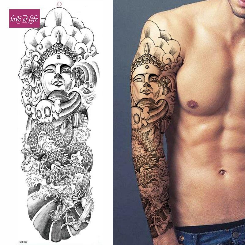 Large Temporary Body Art Arm Tattoo Sticker Sleeve Man Women Waterproof