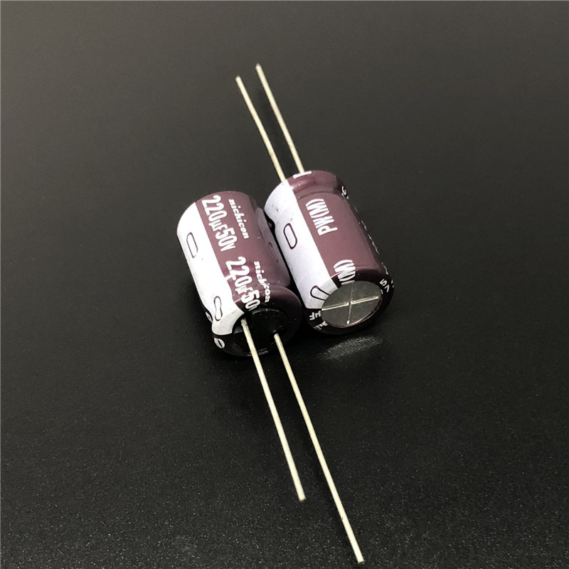 50PCS/lot Import Nichicon electrolytic capacitors 50V series PW long life of 105 degrees free shipping