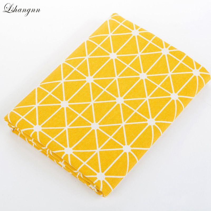 NEW 50*150cm Geometric Diamond Pattern Cotton Linen Bedding handmade fabrics DIY  Sewing Patchwork Home Decor Linen Fabric