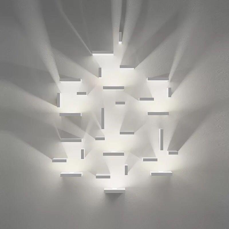 Geométrica cuadrado Combinación libre de lámparas de pared Led luz de pared dormitorio luz escalera de la lámpara de pared lámpara de envío gratis