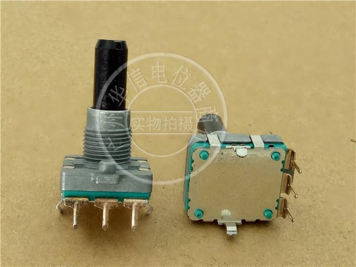 1pcs/lot Japanese ALPS potentiometer EC16B encoder [with 24 steps] Handle length 23MMF