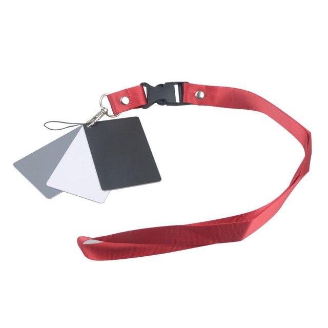 Цифровая камера 3 в 1 карманный размер белый черный серый баланс карты 18 процентов серая карта с шейным ремешком для цифровой фотографии