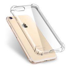 300pcs DHL wholesale Case for iPhone 5 5s SE 6 6s 7 8 plus X iX Case Coque Anti Knock Clear TPU Silicone Cover Phone Bag