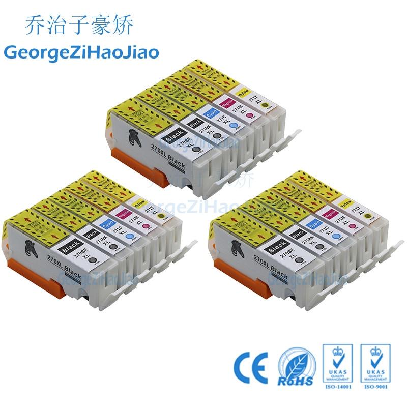 3 sets 270XL cartucho de tinta Compatible PGI270 CLI 271 para Canon PIXMA MG5720 MG5721 MG5722 MG6822