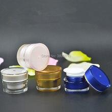 Bouteille de crème acrylique 5g, récipient cosmétique, pot de crème, pot cosmétique, emballage cosmétique F722