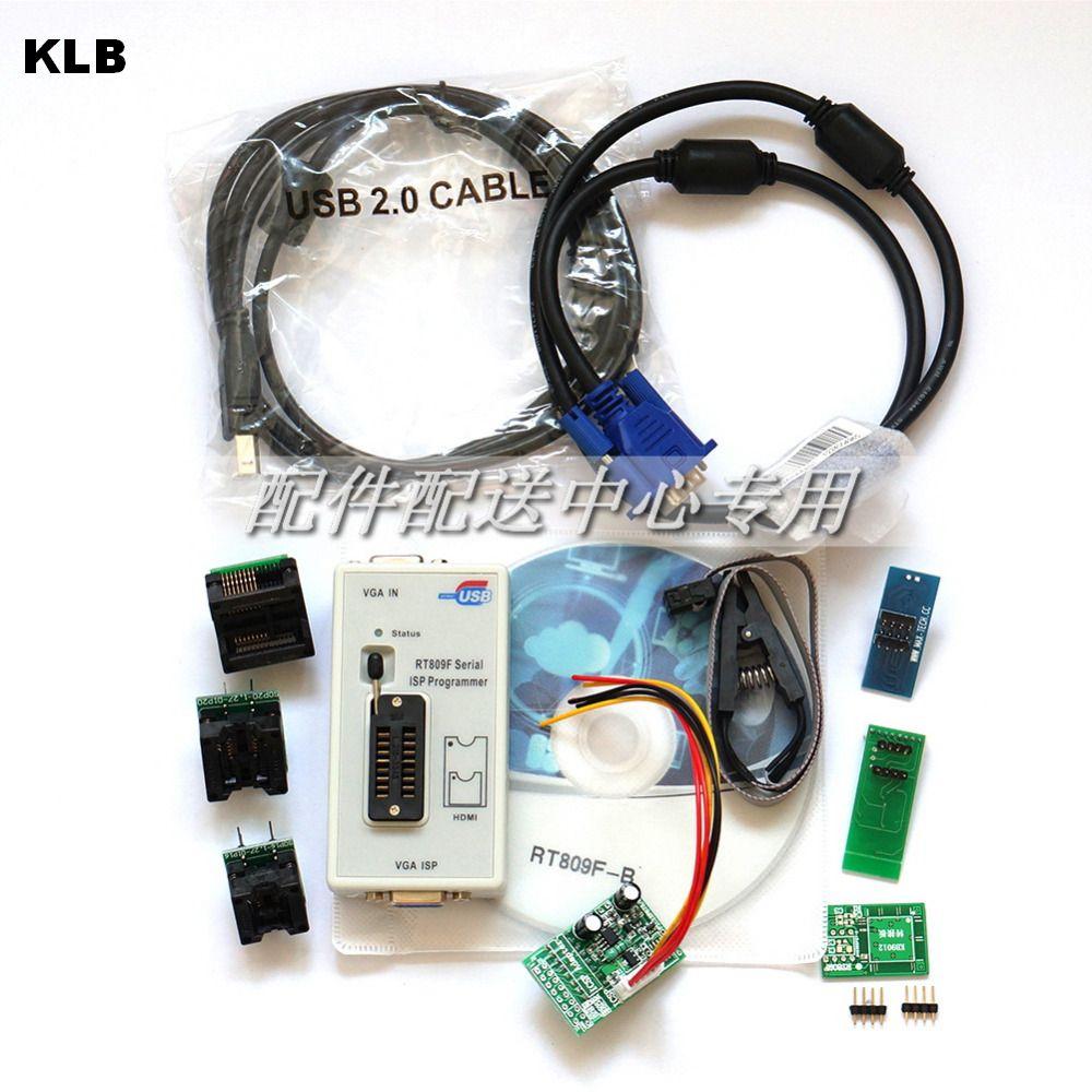 RT809F programador + 7 adaptadores + SOP16 SOP20 IC Clip placa base lector LCD BIOS ISP/USB/VGA w/Engilsh Softerware
