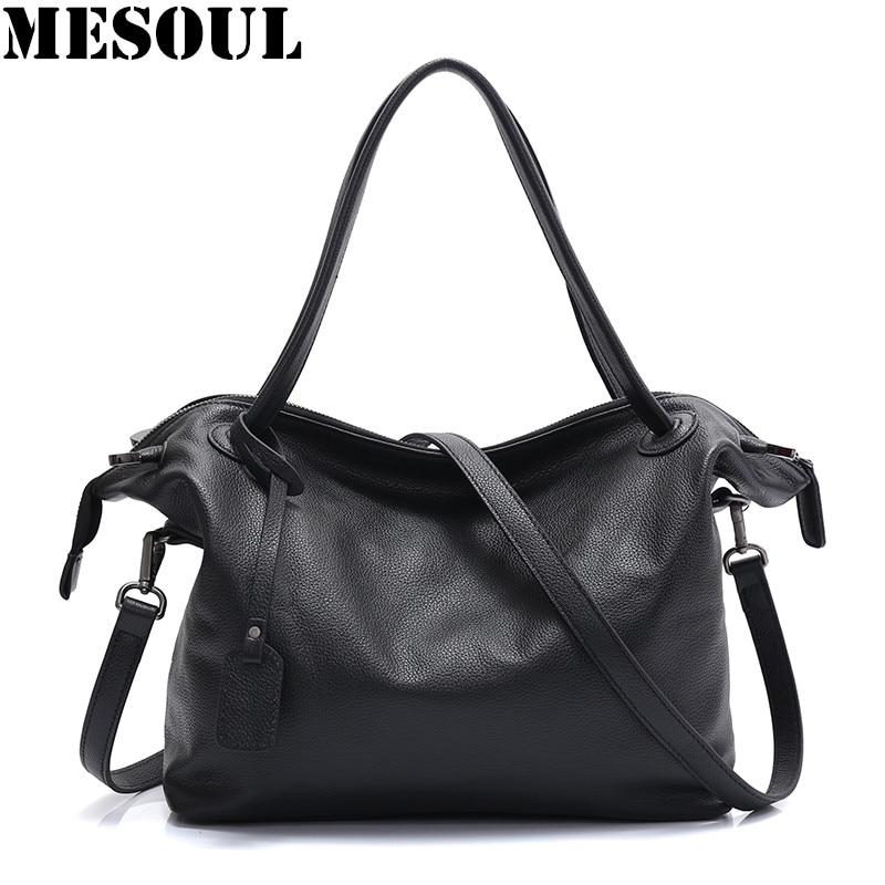 MESOUL Top-Handle Bags Handbags Luxury Women Famous Brands Female Black Casual Big Shoulder Bag Tote For Girls Crossbody Bag