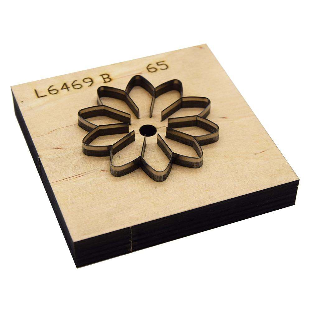 Sun modelo de flor hoja de acero japonés troquelado regular, troquelado de acero, troquelado de madera, corte de cuchillo de cuero,