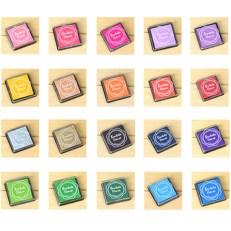 20 Color Craft Ink Pad Stamps Partner Children's Finger Painting InkPads DIY Rubber Stamps Scrapbooking