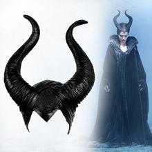 Halloween Cosplay maléfique sorcière cornes chapeau chapeaux masque casque fête reine noire