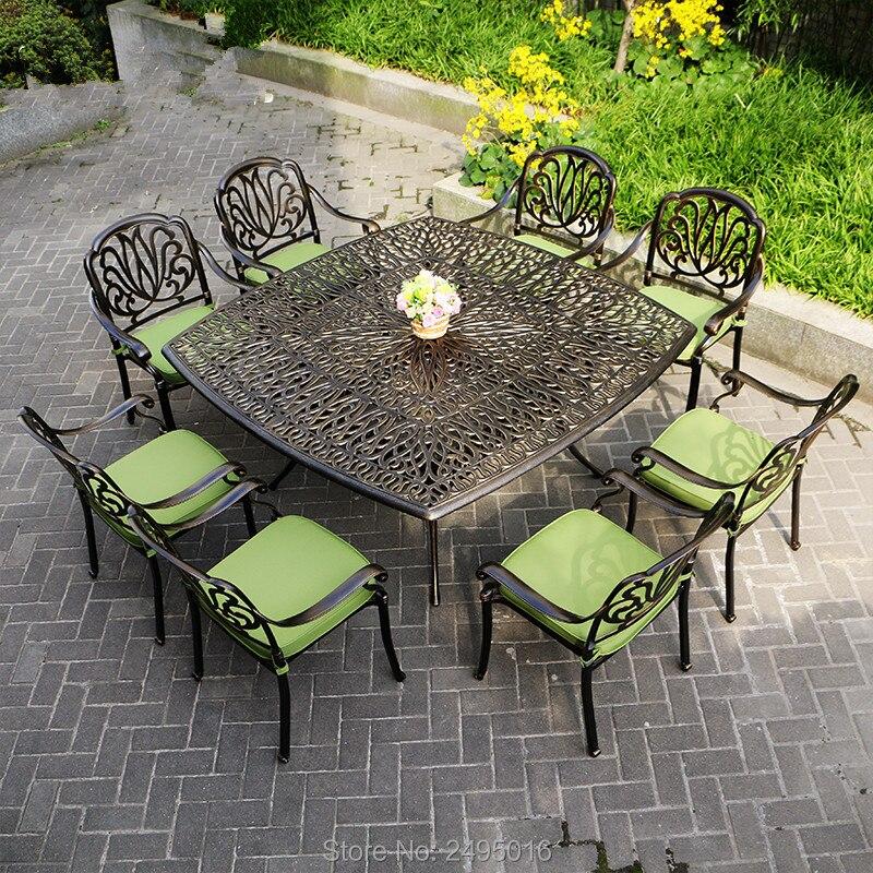 9 шт., алюминиевая мебель для патио, садовая мебель, уличная мебель, морская перевозка