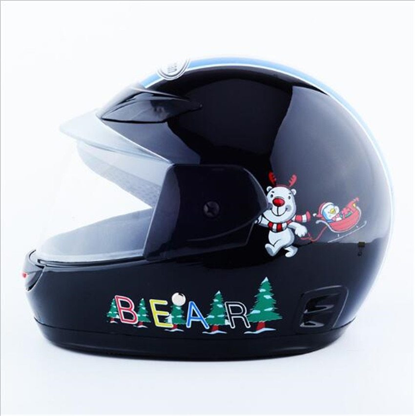 Fashion children motorcycle helmet nuoman child motorbike helmets of ABS PINK YELLOW SILVER BLUE colors less 53 cm enlarge