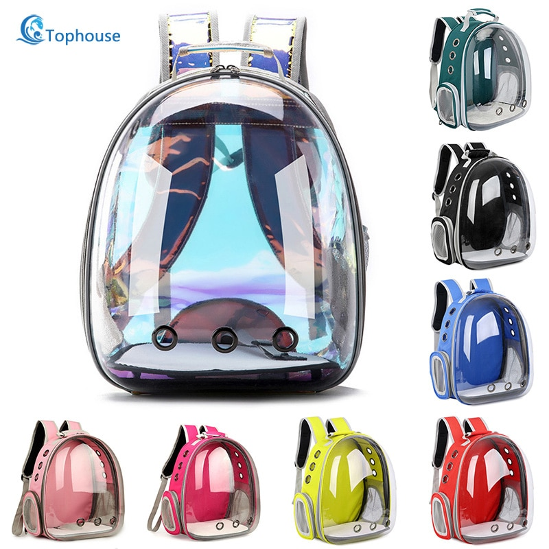 Free shipping Cat bag Breathable Portable Pet Carrier Bag Outdoor Travel backpack for cat and dog Transparent Space pet Backpack