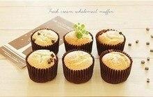 Gobelets à pain en papier brun   Taille ouverte 4cm Cupcake Muffin doublures de cuisson