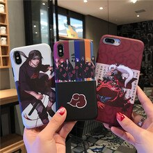 Jiraiya Itachi Case for iphone 6 6s 7 8 plus X XR XS Max phone cases Newest Cool Japan Anime Kakashi soft TPU back cover Coque