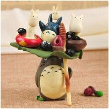 Dessin animé mon voisin Totoro Figure Puzzle empilé Totoro jouet décoration de bureau