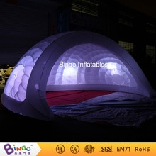 5x4,2x2,5 metros carpa de iglú cúpula inflable/tienda de cúpula con luces LED-tienda de juguete
