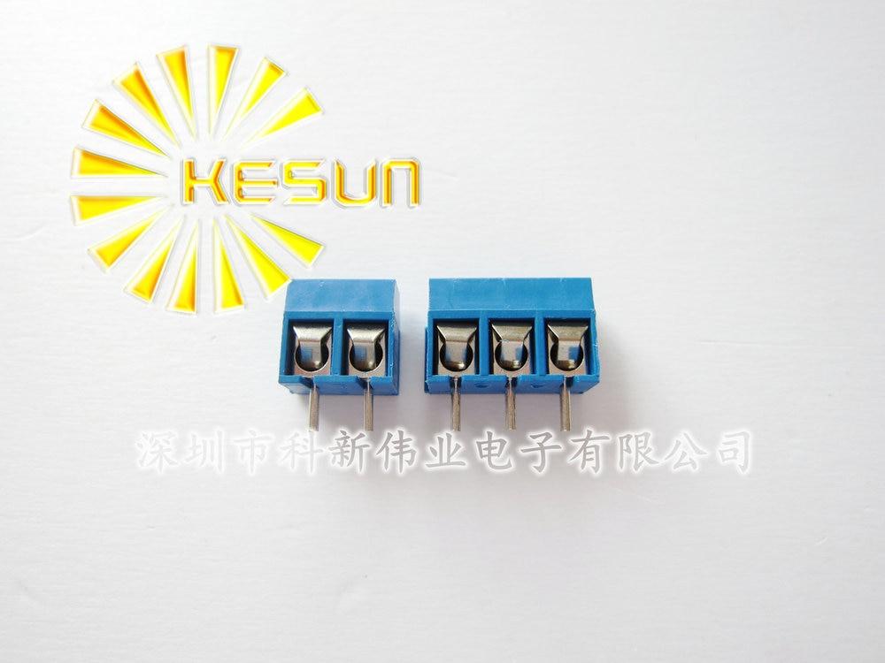 "200 piezas KF301-5.0-2P + KF301-5.0-3P KF301 ""+"" tornillo 5,0mm Pin recto PCB tornillo Terminal conector"