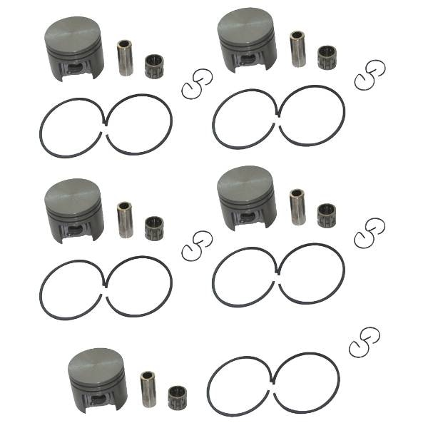 5 Sets 38mm Piston 10mm Pin Ring & Bearing Kit Fit STIHL 018 MS180 Chainsaw