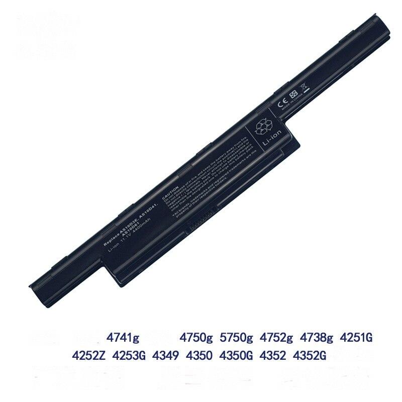 BEB aplicable a ACER 4738zg 4750g 5741G para Acer 4741g AS10D31 portátil núcleo de la batería