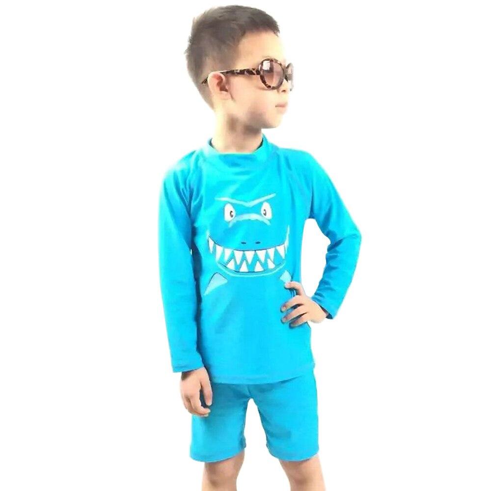 ¡NOVEDAD DE 2017! 2 unidades de nuevos trajes de baño para niños con protección UV SPF 50 + protección solar traje de baño para niños de tiburón para 5-16 años al por menor