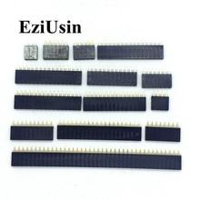 2.54mm simple rangée femelle 2 ~ 40P PCB prise carte broche en-tête connecteur bande pinen-tête 2/3/4/6/10/12/14/16/20/40Pin pour Arduino