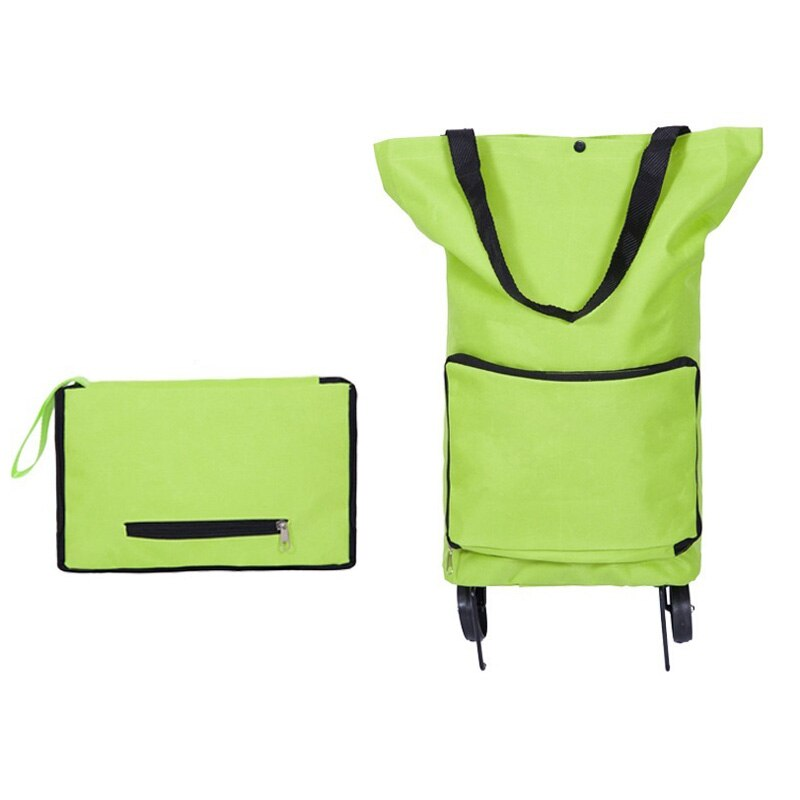 Doble capaz de compras mochila con carro de compras bolso ruedas portátil moda Tug paquete plegable carrito de compras