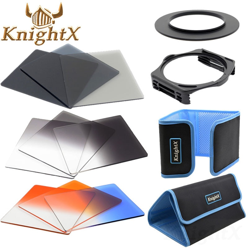 Набор цветных фильтров KnightX 52 мм 58 мм 67 мм 72 мм 77 мм для Cokin P для Nikon D5300 D5200 D3300 650d 70d d7200, линзы d90 6D для камеры