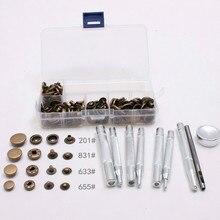 10mm 12mm 15mm bouton pression en métal bouton pression boutons Poppers cuir artisanat + Kit doutils de fixation