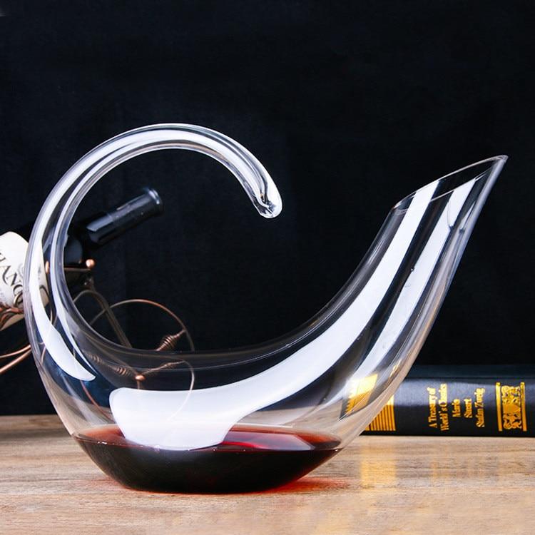 Top Grade Cristal Forma Alienígena 850 ml Garrafa de Vinho Moda Vinho Vinho Gosto de Aeração Dispensador Garrafa de Whisky Jarro
