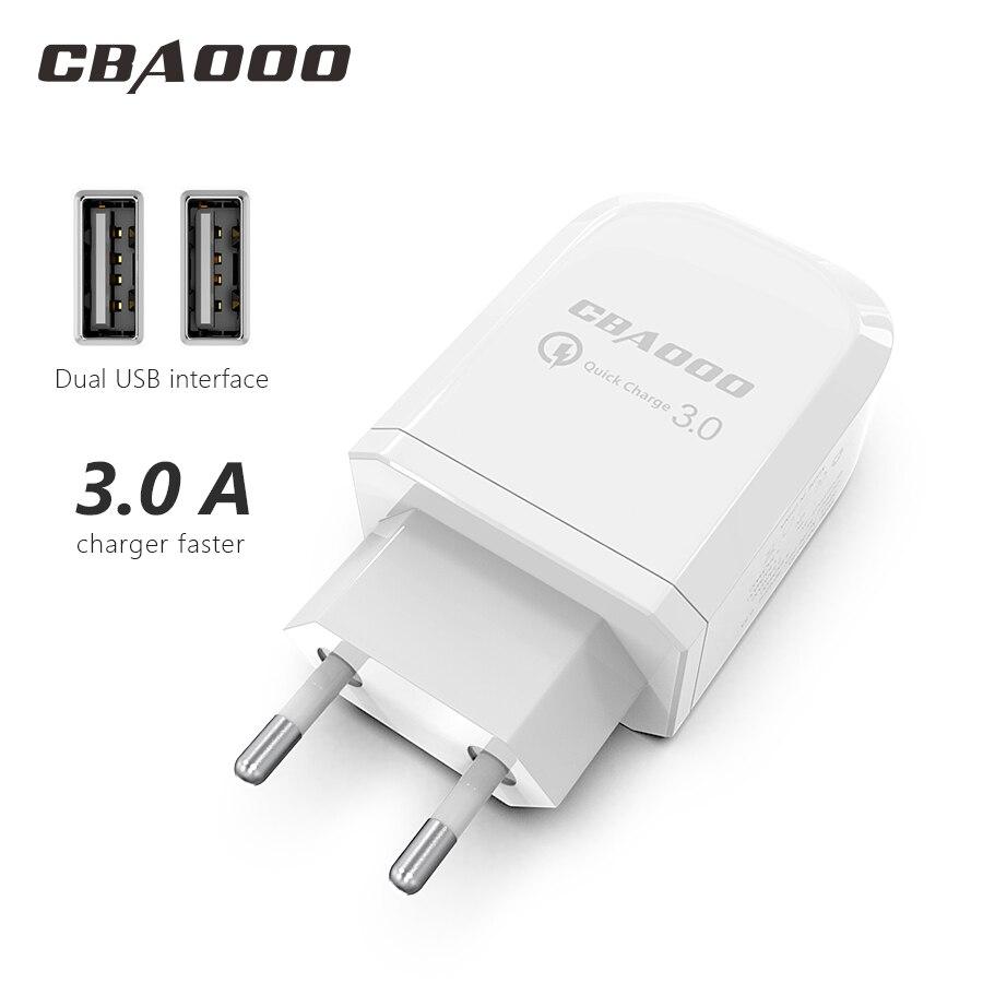 Cbaooo carregador usb 2-port usb carregador de parede ue plugue do telefone móvel carregador usb carregador de parede de carregamento rápido para iphone 6 samsung