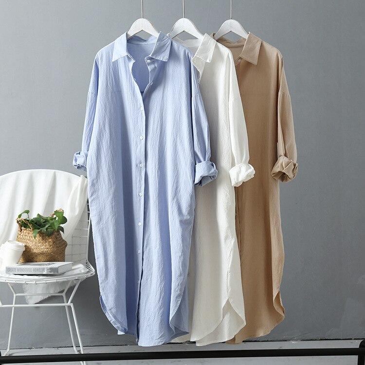 2020 frauen Lange Weiße Bluse Baumwolle Und Leinen Sommer Plus Größe Frauen Tops Und Blusen Frauen Shirts Blusas Roupa Feminina