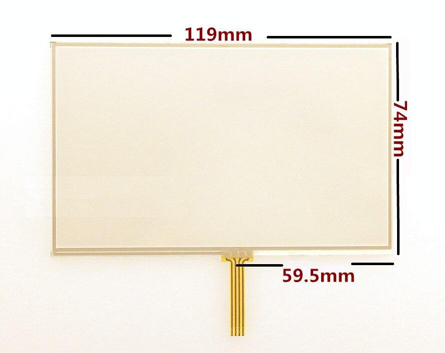 10 unids/lote nueva pantalla táctil de 5 pulgadas para TomTom VIA 4EQ52 4EH52 4EN52 GPS pantalla táctil panel digitalizador de repuesto envío gratis
