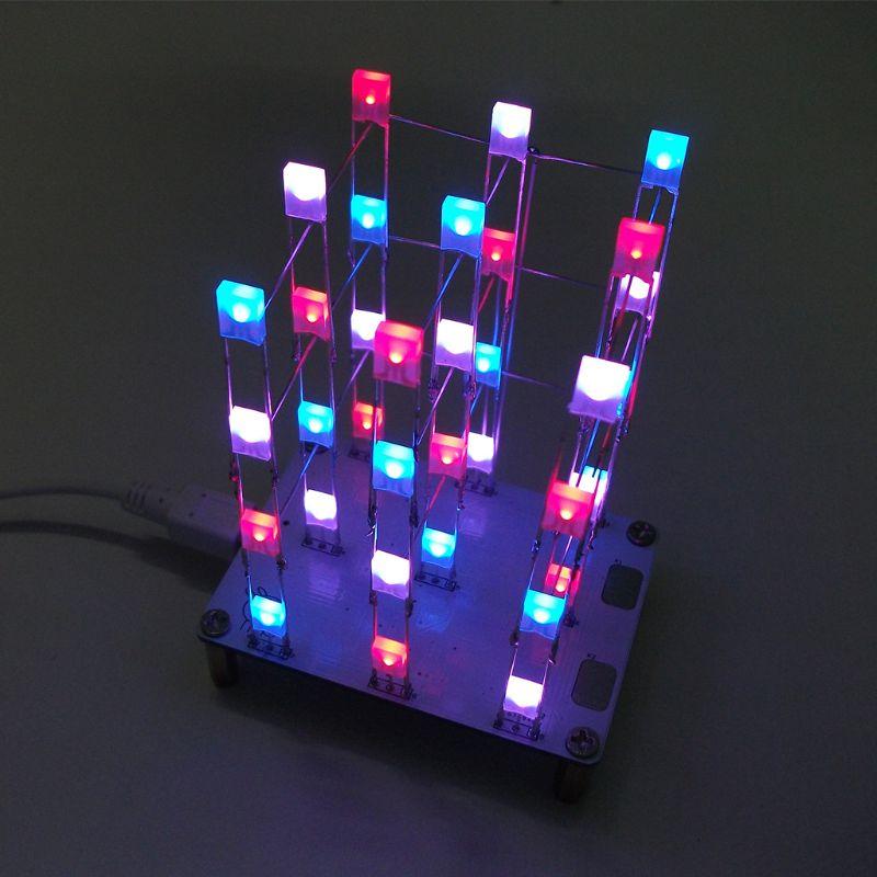 DIY Kit electrónico de Control táctil de 3x3x multicolor a 4 luz LED s Kits Diy
