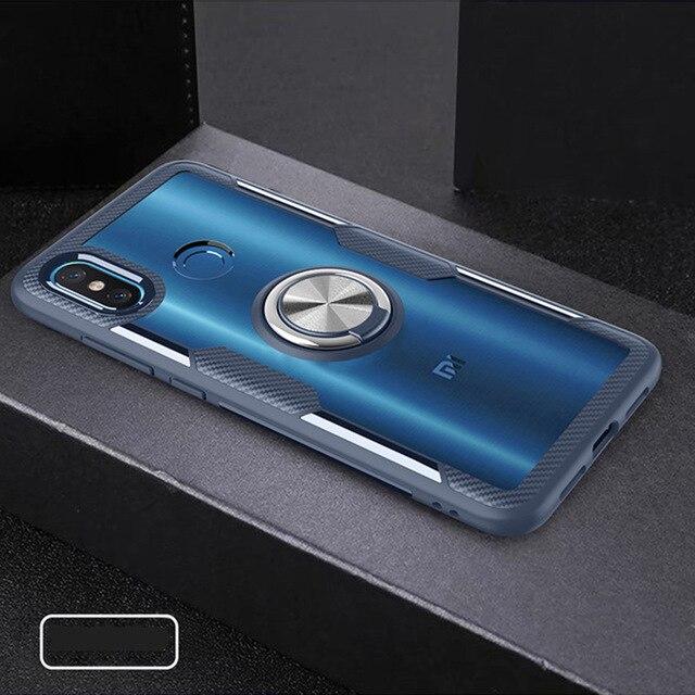 Funda de silicona transparente para teléfono con anillo magnético para coche para Xiaomi mi 8 Lite mi 8 mi 8 Lite 8 Lite 4/6 64/128 GB Xio mi Light