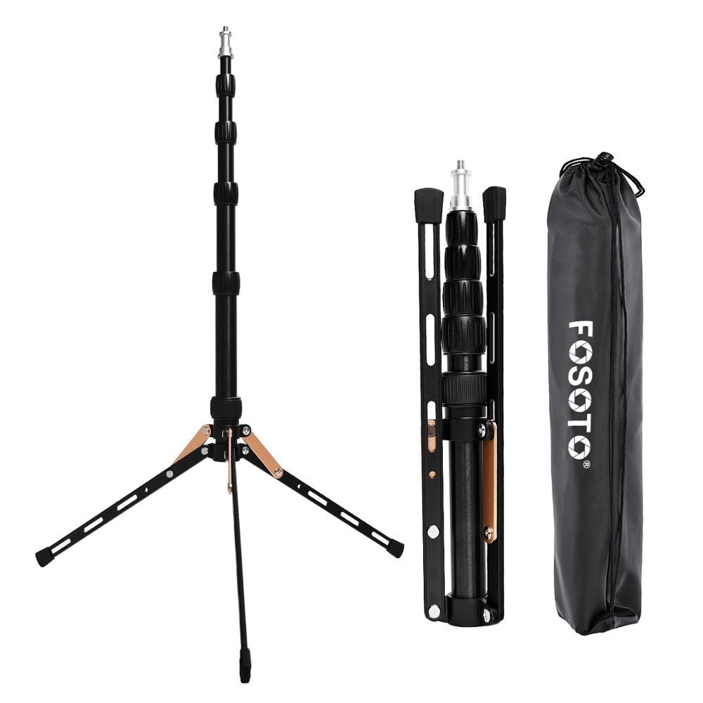 فوسيتو FT-140 ضوء حامل حامل ثلاثي متنقل 1.23 متر ل هاتف مزود بكاميرا استوديو التصوير الفوتوغرافي الإضاءة فلاش المظلات عاكس